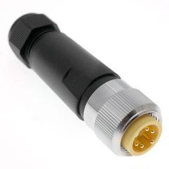 DeviceNet Trunk, 7/8UN2, Field Wireable, 5 Pole, Male Straight, 12A