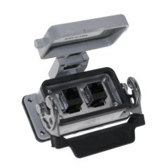 Panel Interface Connector with, (2) RJ45, in a 10LS housing
