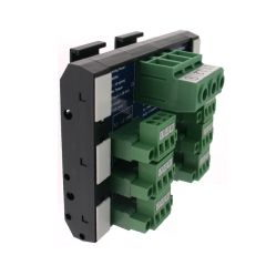 T35 DIN Rail Modules with 3 Pole Terminal Block with Ground, 3 Pole Pluggable Terminal Block(6x) with Ground and Marker Cap