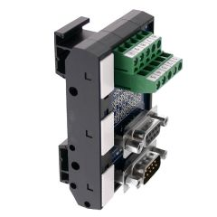 T35 DIN Rail Modules with 9 Pin Male/Female D-Sub, Terminal Block and Marker Cap