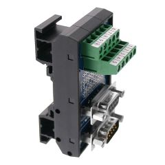 T35 DIN Rail Modules with 9 Pin Male/Female D-Sub and Terminal Block