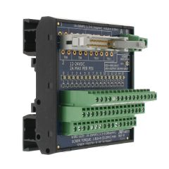 T35 DIN Rail Modules with 20 Pin Ribbon Cable and Terminal Block, 16 Port Input/Output