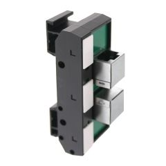 T35 DIN Rail Modules with 2 RJ45 and Marker Cap